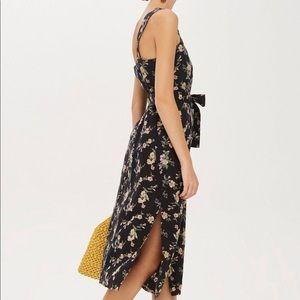 NWT topshop • floral midi dress